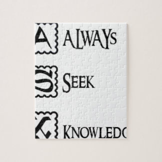 Ask, always seek knowledge jigsaw puzzle