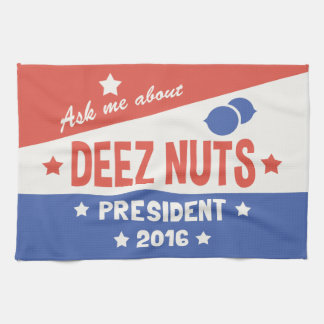 Ask Deez Nuts Kitchen Towel