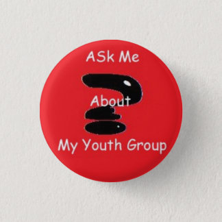 Ask me 1 inch round button
