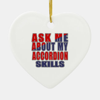 ASK ME ABOUT ACCORDION DANCE CERAMIC HEART ORNAMENT