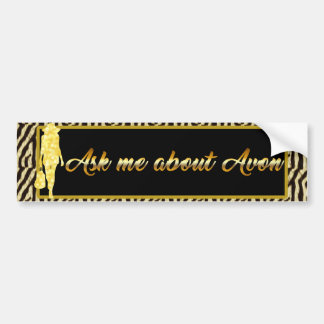 Ask Me About Avon, Gold Tiger Bumper Sticker