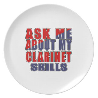 ASK ME ABOUT CLARINET DANCE DINNER PLATE