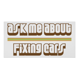 Ask Me About Fixing Cars Poster