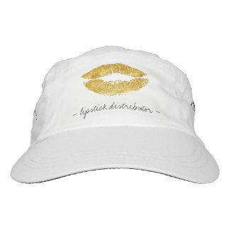 Ask me about gold lips script lipstick distributor headsweats hat