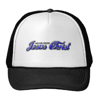 Ask me about Jesus Christ Trucker Hat