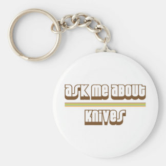 Ask Me About Knives Keychain
