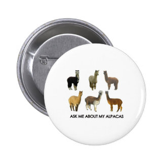 Ask me about my alpacas pins