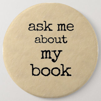 Ask Me About My Book Button