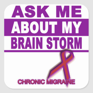 Ask Me About My Brain Storm - Sticker