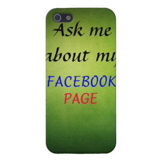 Ask me about my Facebook page iPhone 5/5S Covers