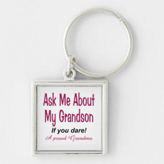 Ask me about my grandson keychain