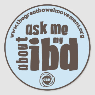 Ask Me About My IBD Sticker - Blue