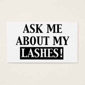 Ask Me About My Lashes Business Cards