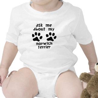 Ask Me About My Norwich Terrier Bodysuit
