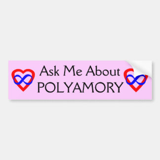 Ask Me About Polyamory Bumper Sticker