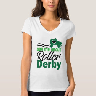 Ask me about Roller Derby, Roller Skating T-Shirt