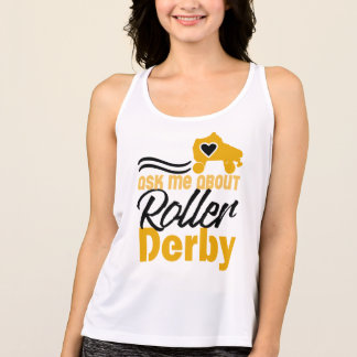 Ask me about Roller Derby, Roller Skating Tank Top