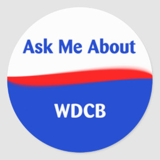 Ask Me About Round Sticker