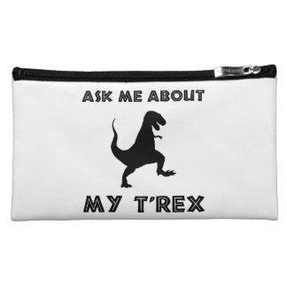 Ask Me About T Rex Funny Makeup Bag