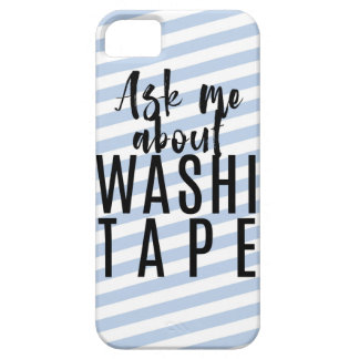 Ask Me About Washi Tape - Blue Candy Stripes Case For The iPhone 5
