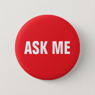 Ask me button - red and white