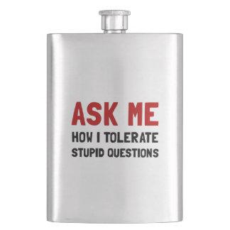 Ask Me Hip Flask