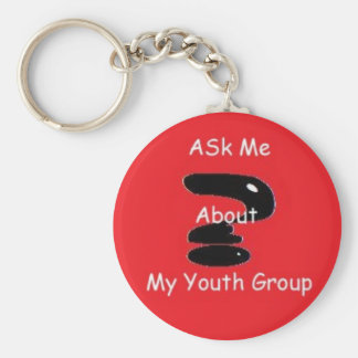 Ask me Keychain