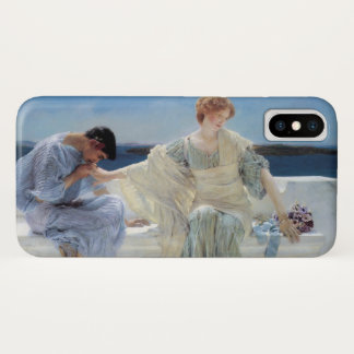 Ask Me No More by Alma Tadema, Vintage Romanticism iPhone X Case