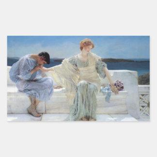 Ask Me No More by Alma Tadema, Vintage Romanticism Sticker