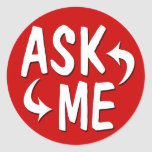 Ask Me Peel & Stick Stickers