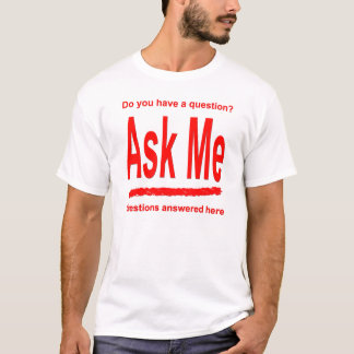 Ask Me Red Shirt