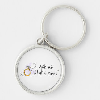 Ask Me What s New Wedding Engagment Keychain