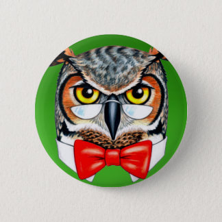 Ask Owl 2 Inch Round Button