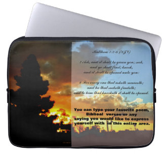 Ask, Seek, Knock  15 inch LapTop Cover