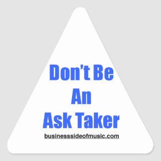 Ask Taker Triangle Sticker
