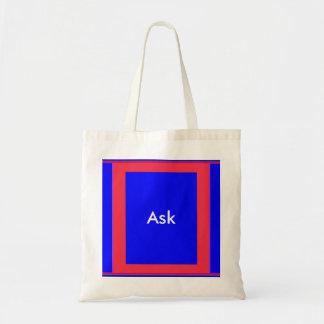 Ask - ! UCreate Ask jGibney Zazzle Budget Tote Bag