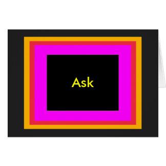 Ask - ! UCreate Ask jGibney Zazzle Cards