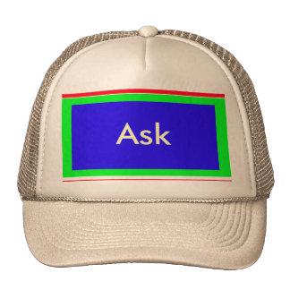 Ask - ! UCreate Ask jGibney Zazzle Trucker Hats