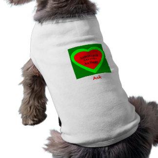 Ask - ! UCreate Ask jGibney Zazzle Pet T-shirt