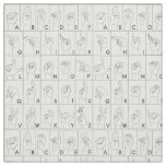 ASL American Sign Language Alphabet Pattern Fabric