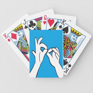 ASL American Sign Language INTERPRET Poker Deck