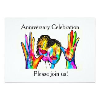 ASL Anniversary Invitation for Deaf Parents