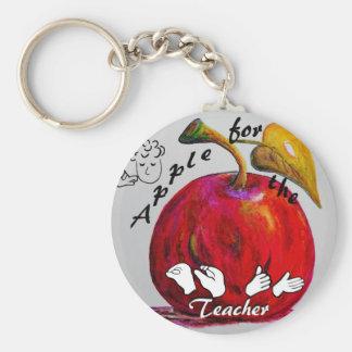 ASL Apple for the Teacher Keychain