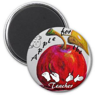 ASL Apple for the Teacher Magnet