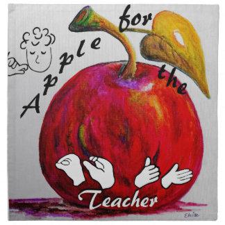 ASL Apple for the Teacher Napkin