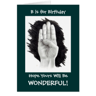 ASL BIRTHDAY CARD