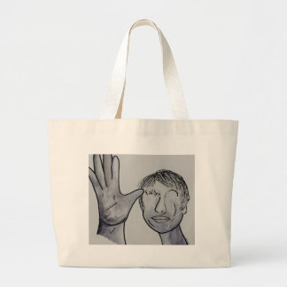 ASL Father in Denim Colors Large Tote Bag