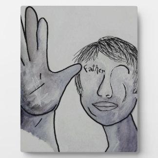 ASL Father in Denim Colors Plaque