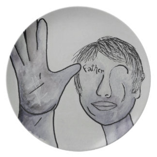 ASL Father in Denim Colors Plate