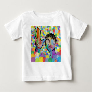 ASL FATHER on Bright Bubble Background Baby T-Shirt